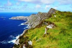 Falaises vertes en Irlande photographie stock libre de droits