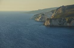 Falaises Zakynthos de Keri photo stock