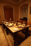 Falaknuma Palace dining room, Hyderabad Stock Photo