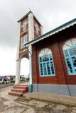 Falam施洗约翰教堂,缅甸(缅甸) 图库摄影