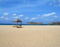Falasarna beach stock photo