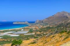 Falasarna beach Stock Image