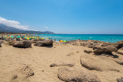 Falasarna beach Chania stock photography