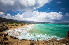 Falasarna beach, Crete island, Greece Royalty Free Stock Photography