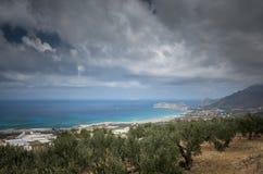 Falasarna beach, Crete island, Greece Royalty Free Stock Image