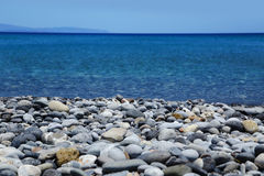 Falasarna beach of Crete island Royalty Free Stock Photos