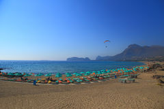 Falasarna beach of Crete island Stock Photo
