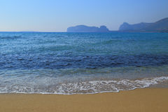 Falasarna beach of Crete island Stock Image