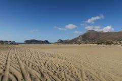 Falasarna beach Royalty Free Stock Image