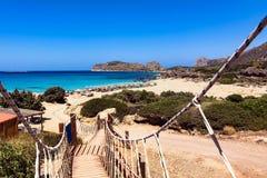 Falasarna Crète, Grèce Images libres de droits