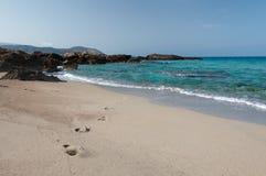 Falasarna plaża, Crete, Grecja Zdjęcia Royalty Free