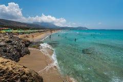 Falasarna-Strand Chania Griechenland Stockbild