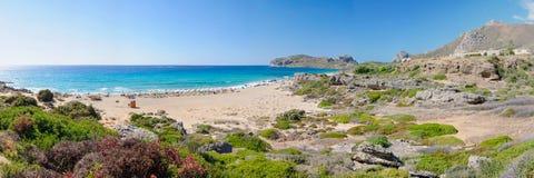 Falassarna, один из самых красивых пляжей Крита – награженного как самое лучшее в Европе Стоковые Изображения