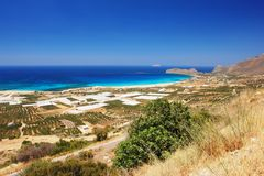 Falassarna-Strand, Kreta Stockfoto