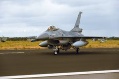 Falcão de combate de General Dynamics F-16A em NTM2014 Foto de Stock
