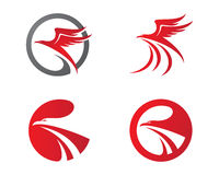 Falcão Logo Template Imagens de Stock Royalty Free