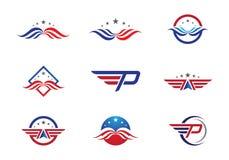 Falcão Logo Template Fotografia de Stock