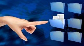 Falcówka na ekranie komputerowym Obrazy Royalty Free