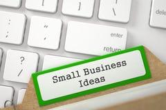 Falcówka rejestr z Wpisowymi małych biznesów pomysłami 3d Zdjęcia Stock