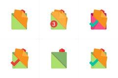 Falcówki i kartotek ikony 2 wyznaczonym przez ornamentu Fotografia Stock