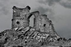 Falci il castello del poliziotto, sullo Staffordshire Cheshire Borders immagini stock libere da diritti
