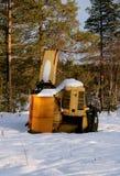 Falciatore della neve Immagini Stock