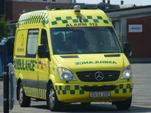 Falck救护车丹麦 库存图片