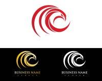Falco Eagle Bird Logo Template Immagine Stock