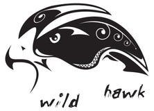 Falcão selvagem do tatuagem tribal Fotografia de Stock