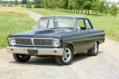 Falcon. Picture of the black ford falcon stock photography