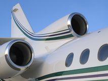 Falcon 50. French Falcon 50 tri-engined private business jet tail assembly Stock Photography