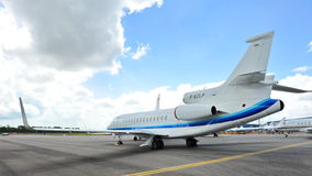 Falcon 7X business jet on display at Singapore Airshow 2012 Royalty Free Stock Image