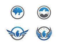 Falcon Eagle Bird Logo Template. Vector icon royalty free illustration