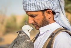 Falcon and falconer Stock Photo