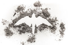 Falcon, Hawk, Phoenix, Eagle Silhouette Drawing Made In Ash As R Stock Photography