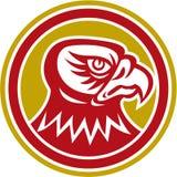 Falcon Head Side Circle Retro Royalty Free Stock Photography