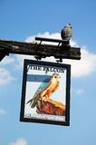 The Falcon Hotel sign, Stratford-upon-Avon. Stock Image