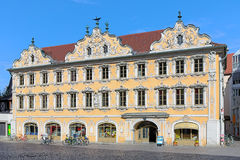 Falcon House in Wurzburg, Germany Stock Image