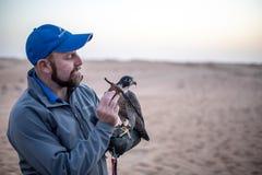 Falcon Trainer stock photo
