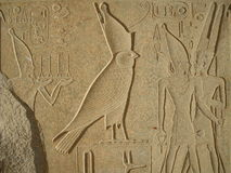 Falcon relief in Karnak Temple, Egypt Royalty Free Stock Photos