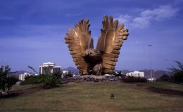 The falcon roundabout in Fujairah, UAE Stock Images
