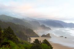 Falcon and Silver Point at Oregon Coast Royalty Free Stock Photography