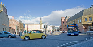Falcon Square Inverness. An image of Falcon Square, the centre of  Inverness showing the Eastgate Shopping Centre Stock Photography