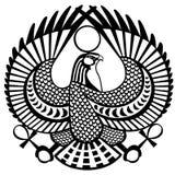 Falcon symbol of Horus black white Stock Images