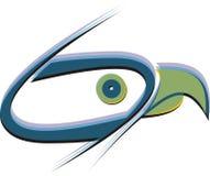 Falcon.Three-gekleurd embleem met een transparantie Royalty-vrije Stock Foto's