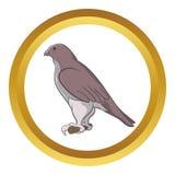 Falcon vector icon Royalty Free Stock Photo