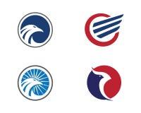 Falcon Wing Logo Template vector Royalty Free Stock Photography