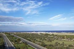Falcone-Borsellino Flughafen lizenzfreie stockfotografie