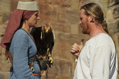 Falconers at the Medieval Festival, Nuremberg 2013 Stock Photography