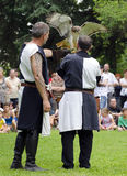 Falconers at the Medieval Festival Royalty Free Stock Images